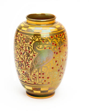 A Pilkington Royal Lancastrian lustre vase, by William S. Mycock Circa 1910-20