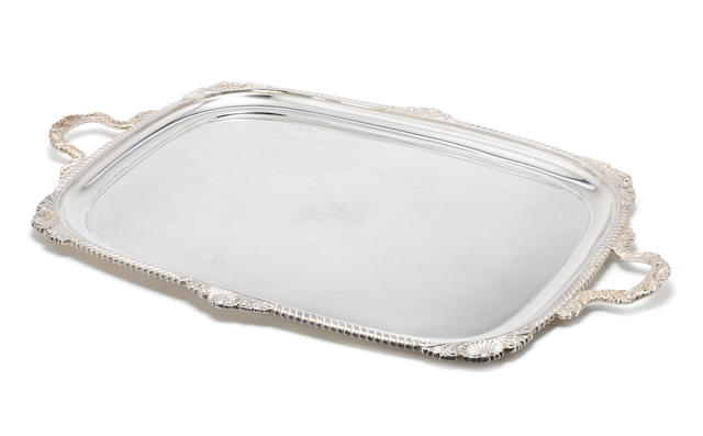 A silver two-handled tray by Elkington & Co, Birmingham 1910