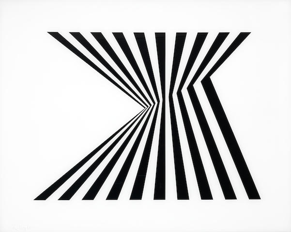 Bridget Riley (British, born 1931) Untitled (Fragment 1) Screenprint on plexiglass, 1965, signed and dated, from the edition of 75, printed at Kelpra Studio, London, published by Robert Fraser Gallery, London, the full sheet, 674 x 839mm (26 1/2 x 33in)(SH)