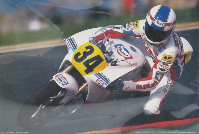 Nine Moto GP rider posters,