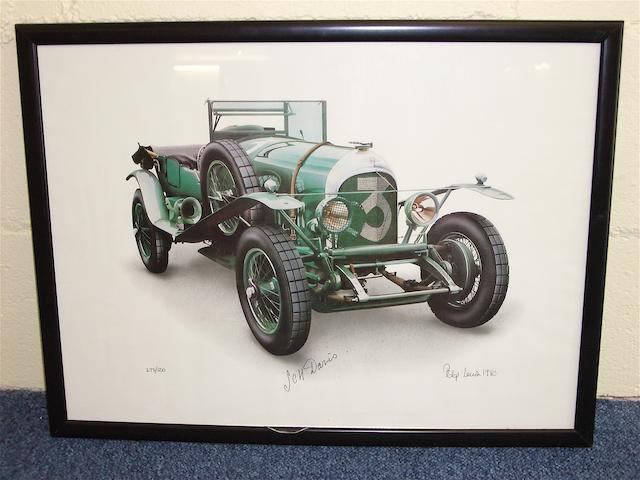 'Bentley No.3', a signed limited edition print after Phillip Lewis,