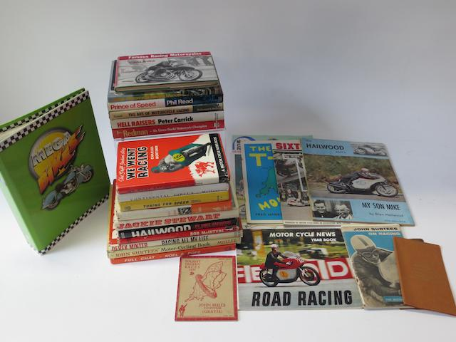 Four signed motorcycling biographies,