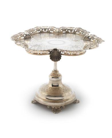 late 19th century Potuguese silver centrepiece