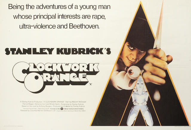 Clockwork Orange Framed Quad