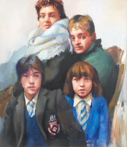 Robert O. Lenkiewicz (British, 1941-2002) 'Family Group'