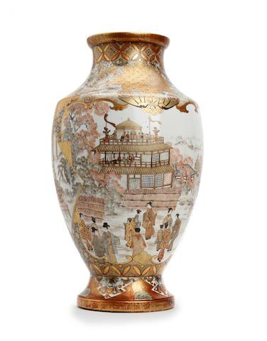A Large Japanese Satsuma vase Late Meiji period/Taisho period