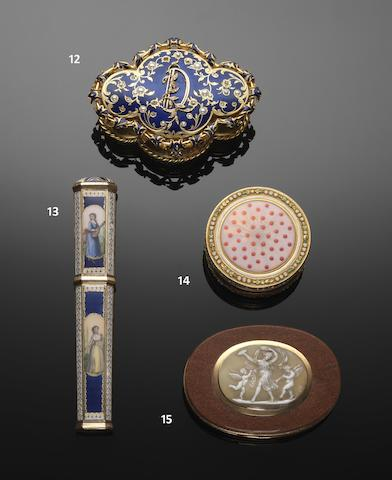 A Louis XVI gold and enamelled box by Georges-Antoine Croze, Paris 1781