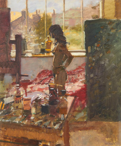 Ken Howard R.A. (British, born 1932) Sarah, Winter Day