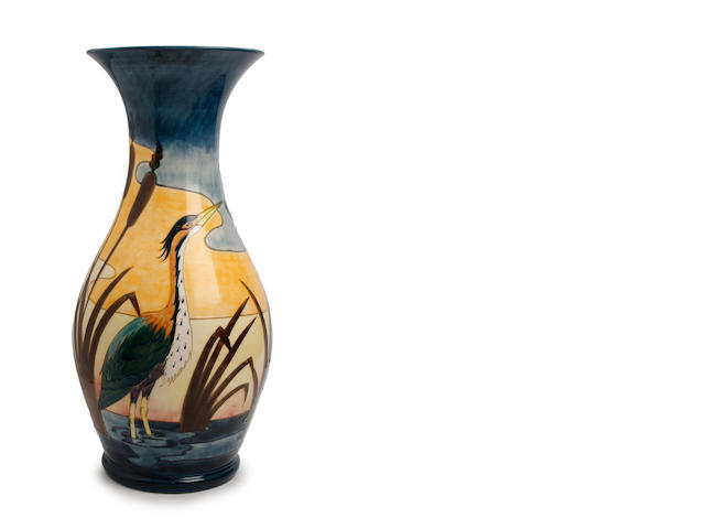 Moorcroft heron vase
