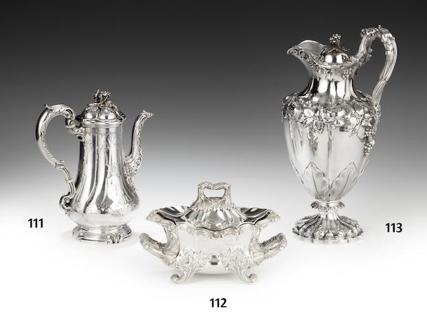 A William IV silver two-handled sauce tureen and cover by Robinson, Edkins and Aston Birmingham 1836