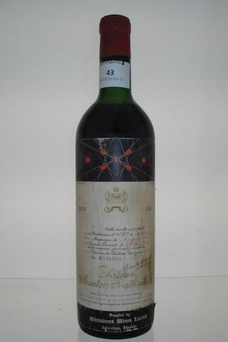 Chateau Mouton Rothschild 1959 (1)