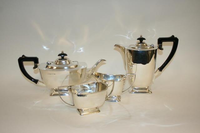 A silver four piece tea service Sheffield 1964  (4)