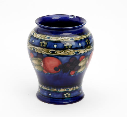 A William Moorcroft banded 'Pomegrante' design vase Circa 1925