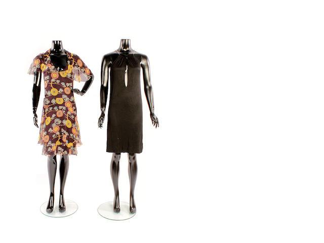 Seven designer day and evening dresses