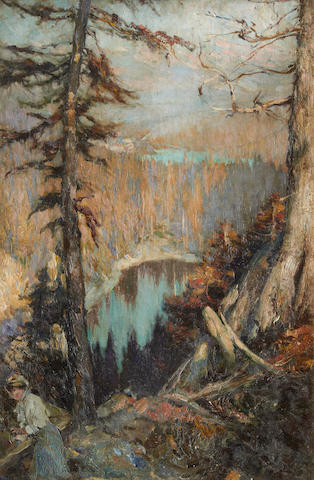 Cyrus Cincinatto Cuneo (American, 1879-1916) A view in the Rockies