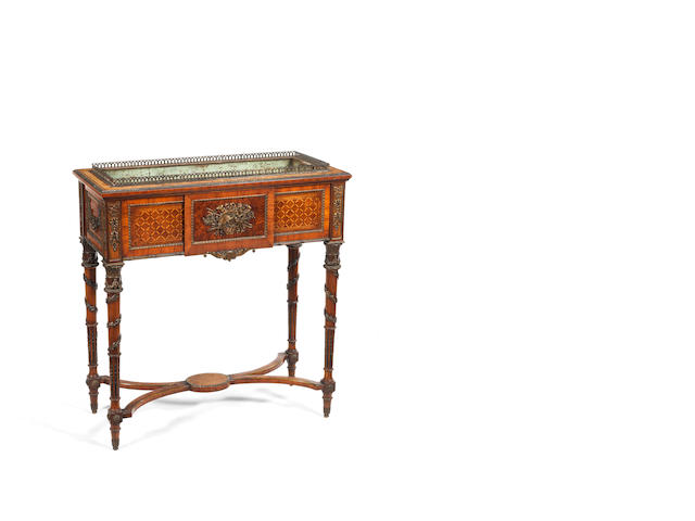 A late 19th century French Jaradiniere stand