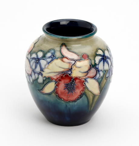 A Walter Moorcroft 'Orchid' pattern vase
