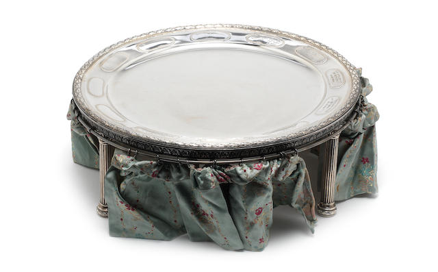 A late 19th century German silver sedar dish by Posen, circa 1890