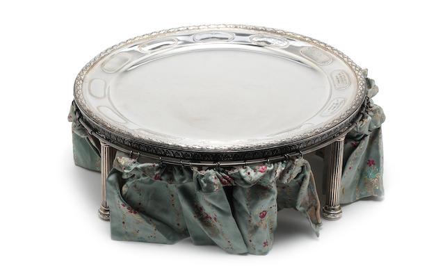 A late 19th century German silver sedar dish by Posen, circa 1890