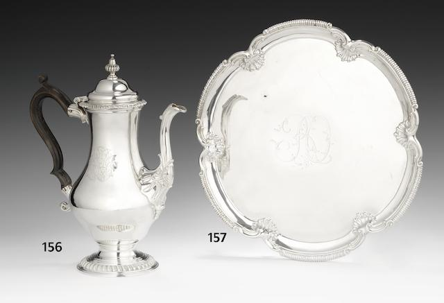 A George II silver salver by David Bell, London 1759