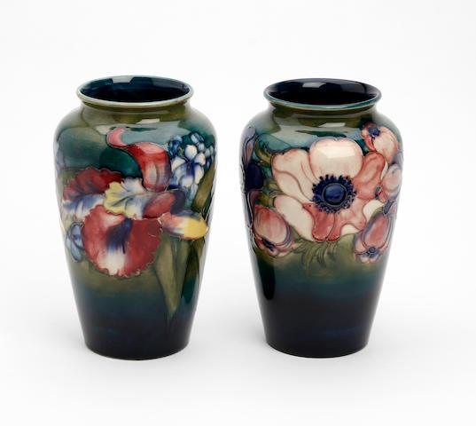 A Walter Moorcroft 'Anemone' design vase