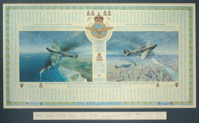 A commemorative Battle of Britain 'Roll of Honour' signed limited edition print,