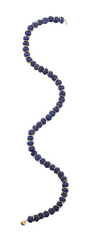 A sapphire bead necklace