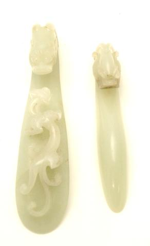 Two jade belt buckles 18th/19th century