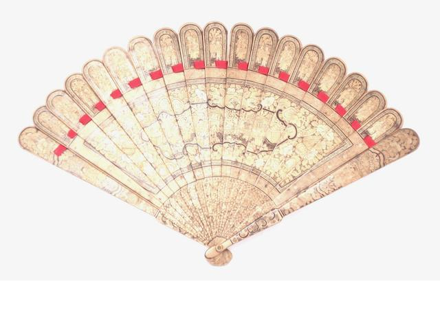 A lacquer fan 19th century