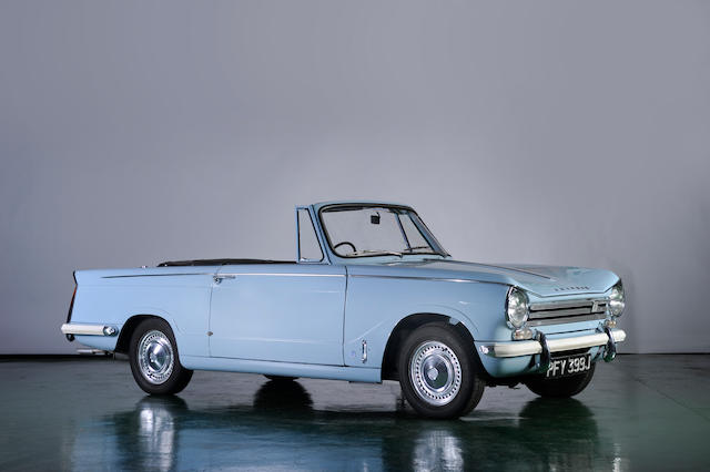 Three owners and 9,945 miles from new,1971 Triumph Herald 13/60 Convertible  Chassis no. GE77835OV Engine no. 515573