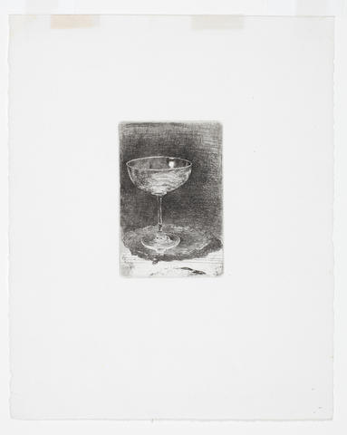 James Abbott McNeill Whistler (American, 1834-1903) The Wine Glass   Etching, 1858, a good impression of the second and final state, with wide margins, 84 x 56mm (3 1/4 x 2 1/4in) (PL) (unframed)