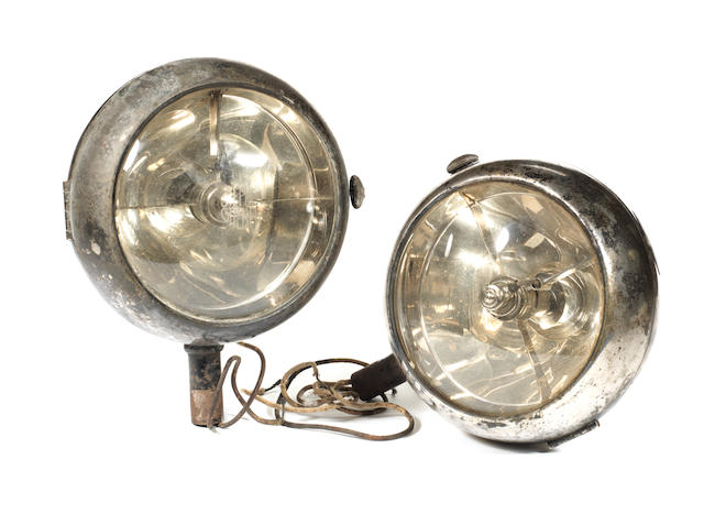 A pair of Stephen Grebel, 3R electric headlamps, French, circa 1930,