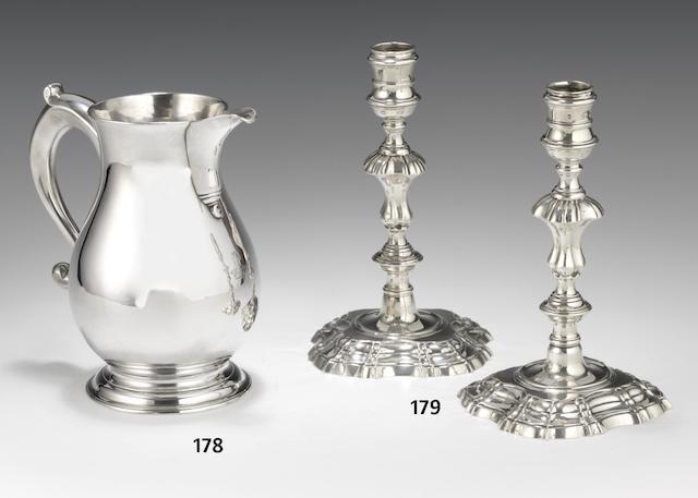 A George II silver beer jug by Francis Spilsbury, London 1741