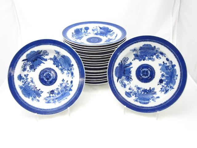 A part set of Fitzhugh pattern soup plates Circa 1800