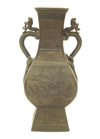 An archaistic bronze vase Bearing Xuande six character mark but later