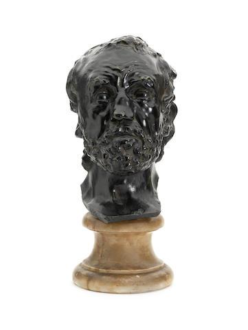 Auguste Rodin (French, 1840-1917) Masque de l'homme au nez cassé, version dite type 1, deuxième modèle