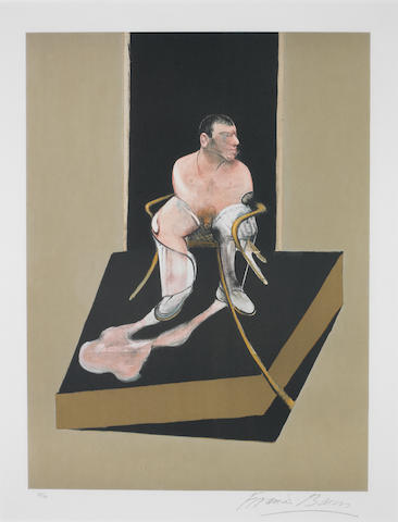 Francis Bacon (British, 1909-1992) Study for a Portrait of John Edwards from the Triptych  Etching and aquatint, 1987, printed in colours, on Arches, signed in pencil and numbered 95/99, published by Poligrafa, Barcelona, 650 x 490mm (25 5/8 x 19 1/4in)(PL)