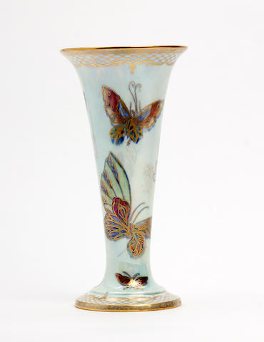 A Wedgwood 'Butterfly' lustre vase  Circa 1920-30