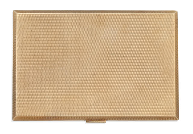 A 9ct gold cigarette case