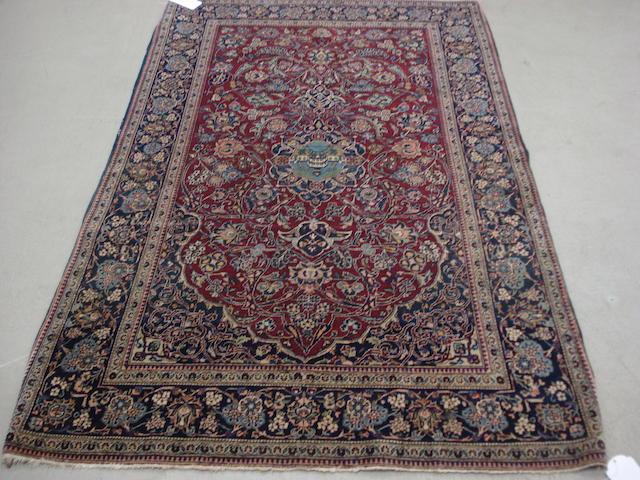 A Kashan rug, Central Persia, 215cm x 131cm