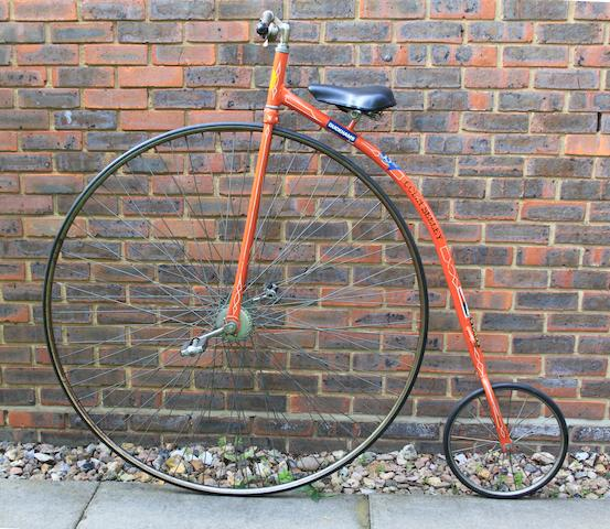 A Lester ordinary bicycle, American, circa 1975,