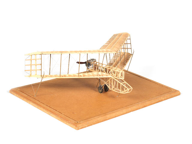 A scratch-built 'skeletal' 1:40 scale model of a 1911 Dunne Flying Wing by J. Darnell,