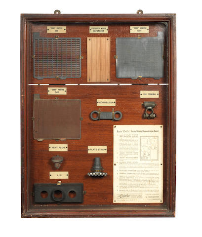 A rare Exide battery display case, August 1921,