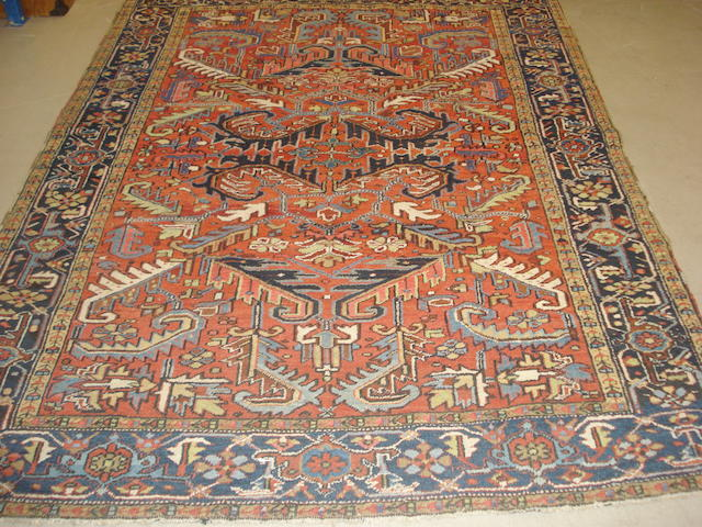 A Heriz carpet, North West Persia, 256cm x 189cm