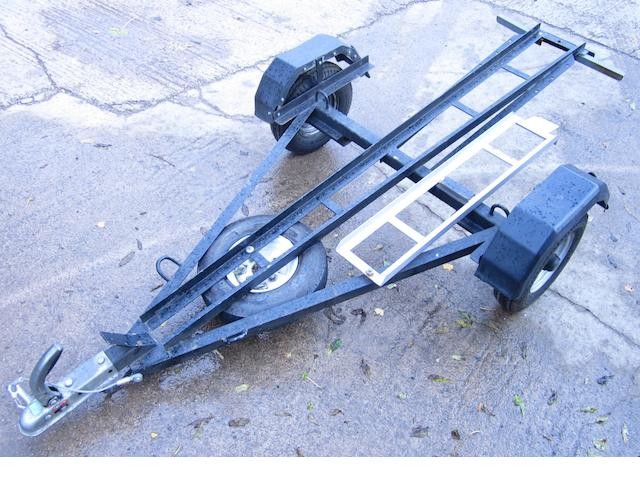 A single motorcycle trailer,