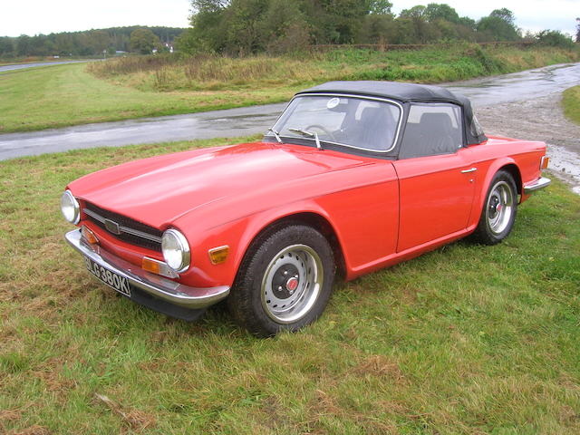 1971 Triumph TR6 Roadster, Chassis no. CP54103.O Engine no. CP53993HE