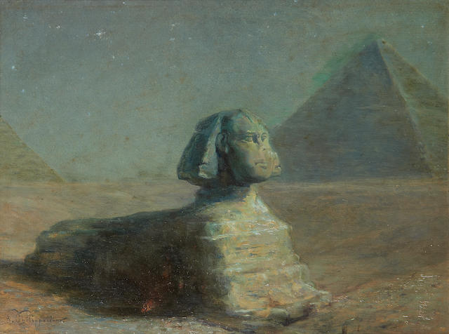 Paul Dominique Philippoteaux (French, 1845-1923) The Great Sphinx of Giza