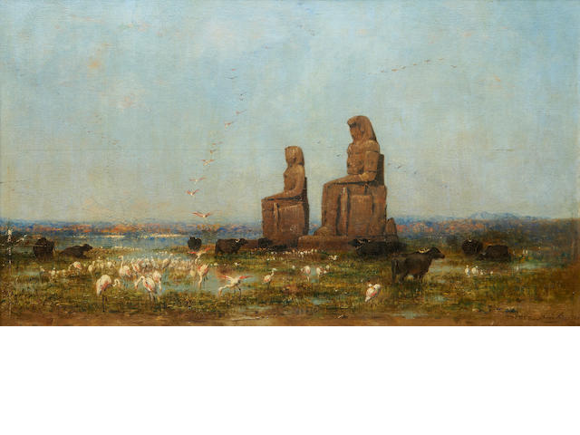 Narcisse Berchère (French, 1819-1891) Colossi of Memnon, Thebes
