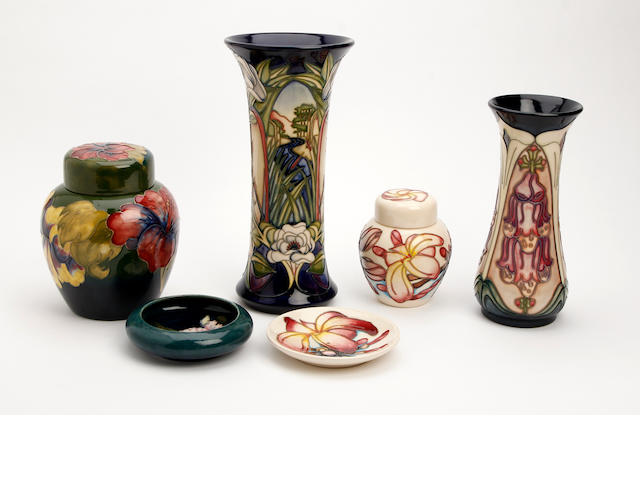 A collection of Moorcroft items