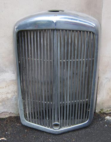 An Alvis TA14 radiator with grille,